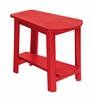 CR Plastic Products - Generations Tapered Style Accent Table in Red - T04-01