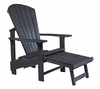 CR Plastic Products - Generations Upright Adirondack Chair in Black - C03-14
