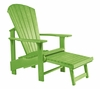 CR Plastic Products - Generations Upright Adirondack Chair in Kiwi Lime - C03-17