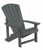 CR Plastic Products - Generations Kids Adirondack Chair in Slate - C08-18