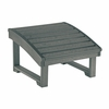 CR Plastic Products - Generations Upright Adirondack Chair Pull Out Footstool in Slate - F03-18