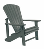 CR Plastic Products - Generations Adirondack Chair in Slate - C01-18