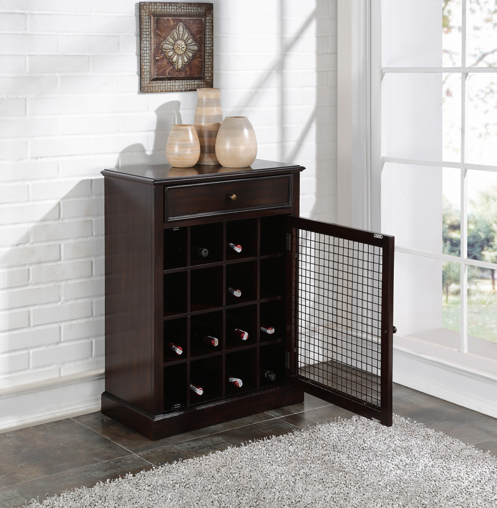 Pulaski Wine Cabinet In Dark Wood Ds 2188 304