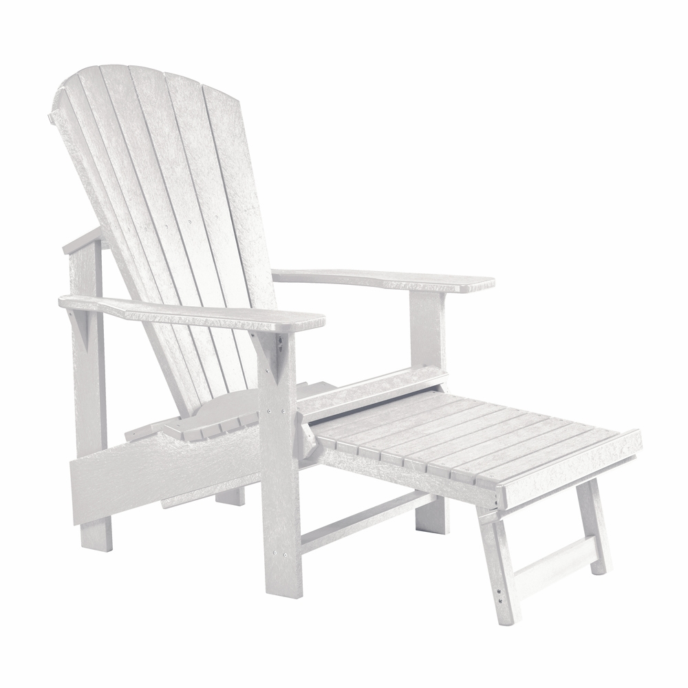 CR Plastic Products   Generations Upright Adirondack Chair In White   C03 02