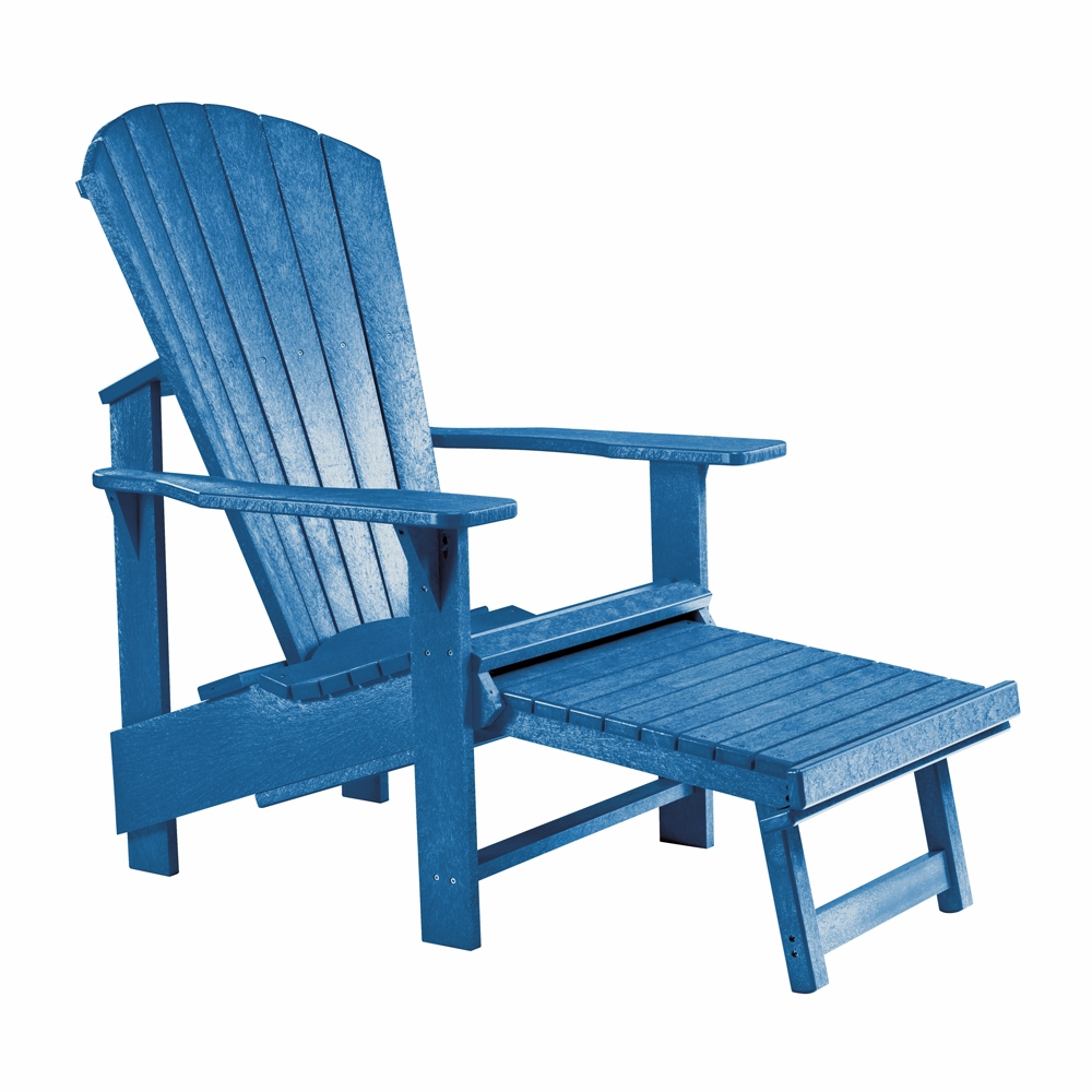 Merveilleux CR Plastic Products   Generations Upright Adirondack Chair In Blue   C03 03