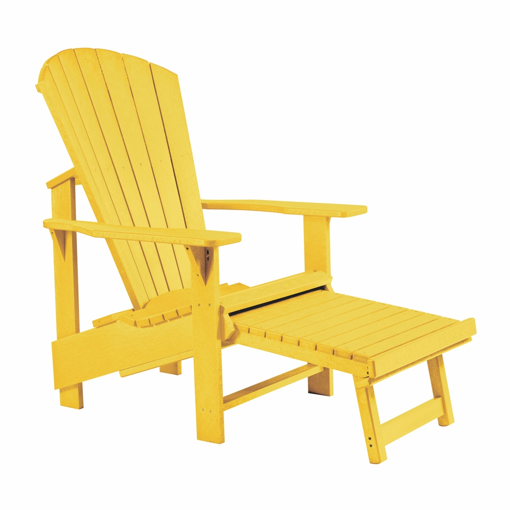 CR Plastic Products   Generations Upright Adirondack Chair In Yellow    C03 04