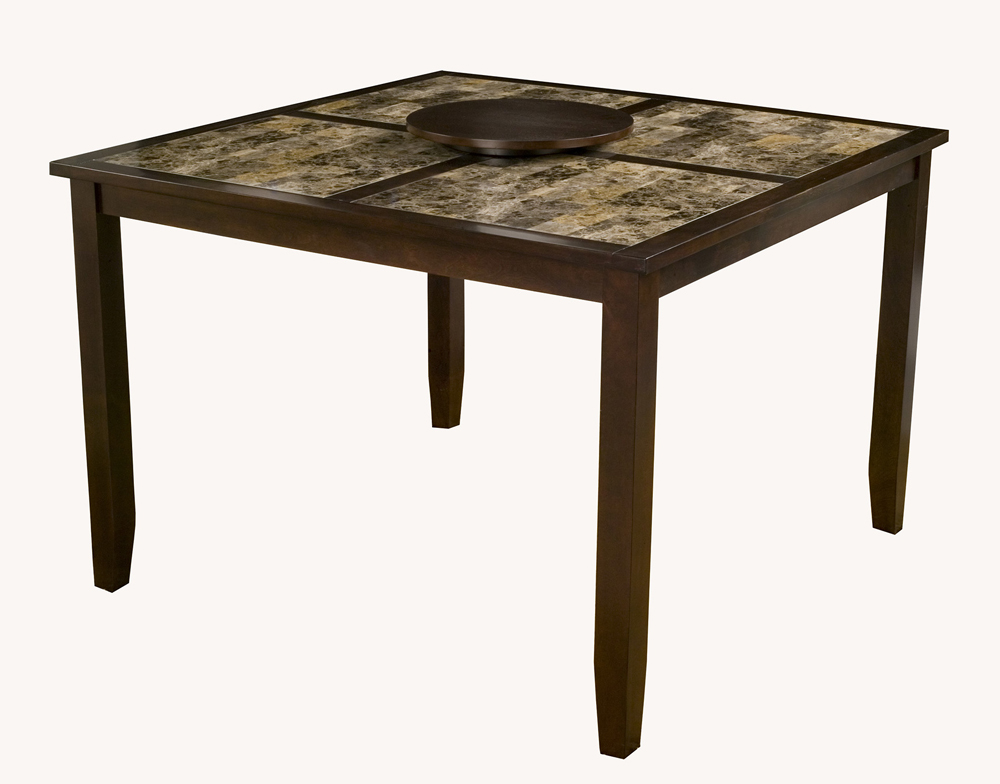 Alpine Furniture Capitola Faux Marble Large Pub Table W/ ...