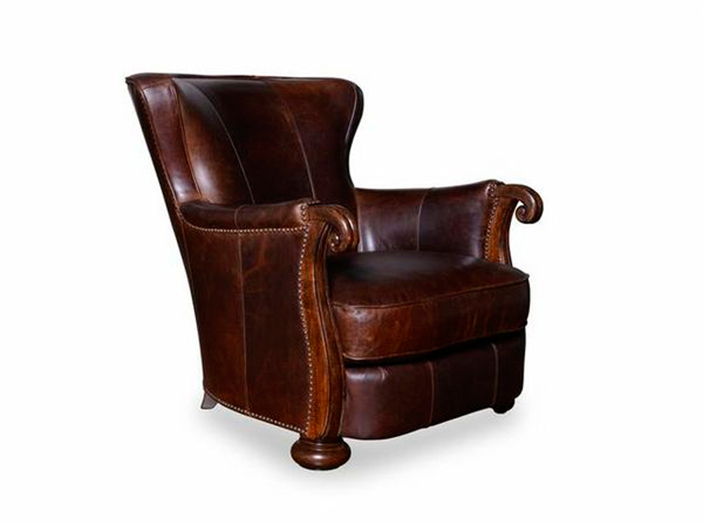 A.R.T. Art Furniture - Kennedy Leather Lounge Chair With ...