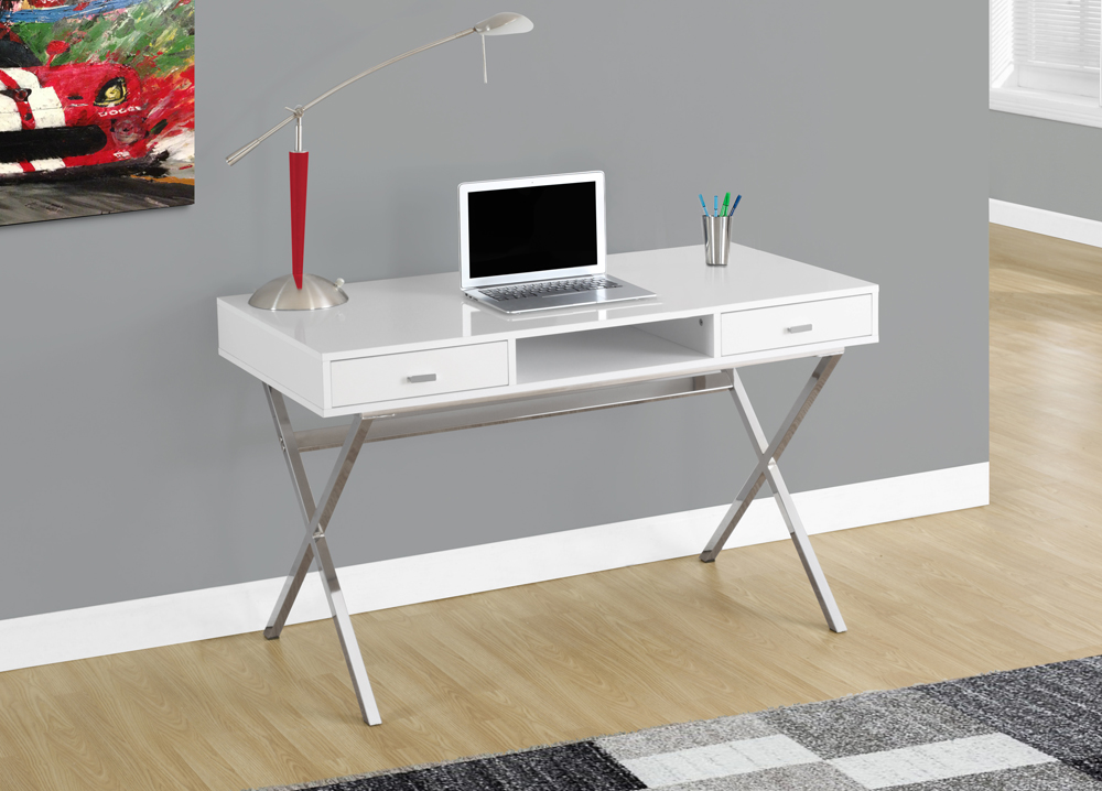 Monarch Specialties Computer Desk 48l Glossy White