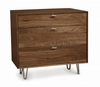 Copeland Furniture - Canto 3 Drawer Dresser in Natural Walnut - 2-CAN-30-04