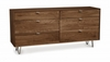 Copeland Furniture - Canto 6 Drawer Dresser in Natural Walnut - 2-CAN-60-04