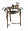 Magnussen - Galloway Round End Table With Glass Top - 37504T_B
