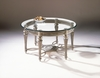 Magnussen - Galloway Round Cocktail Table With Glass Top - 37506T_B