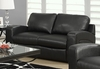 Monarch Specialties - Love Seat Black Bonded Leather I 8502Bk - I-8502BK