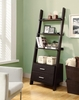 """Monarch Specialties - Cappuccino 69""""H Ladder Bookcase With 2 Storage Drawers - I 2542"""
