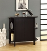 """Monarch Specialties - Cappuccino 36""""H Bar Unit With Bottle And Glass Storage - I 2545"""