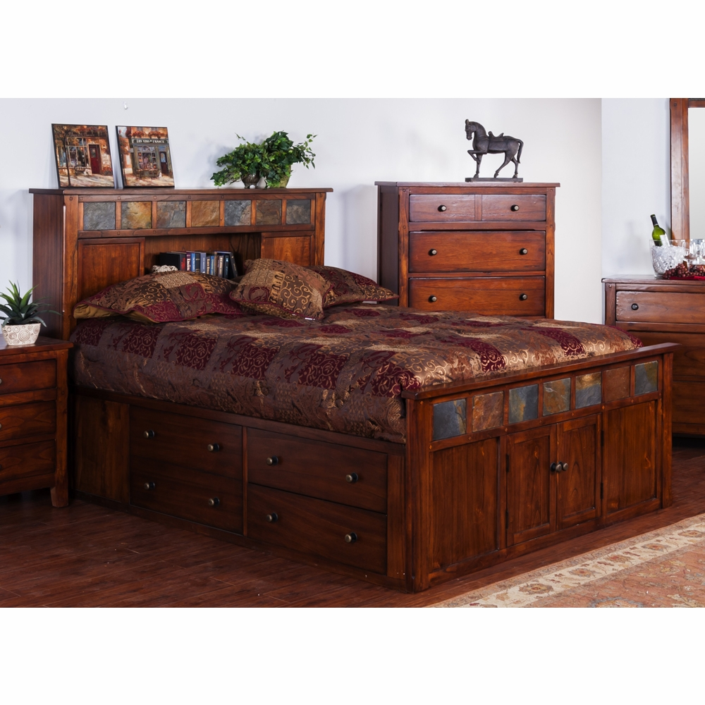 Sunny Designs Eastern King Storage Bed With Slate