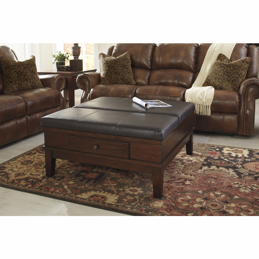 Merihill Coffee Table With Ottoman: Gately Ottoman Cocktail Table