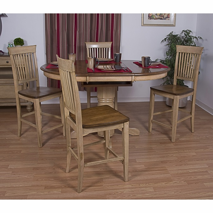 Sunset trading 5 piece brook round or oval butterfly leaf pub sunset trading 5 piece brook round or oval butterfly leaf pub table set with fancy slat watchthetrailerfo