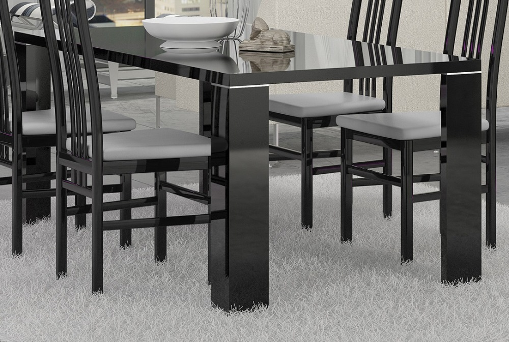 Athome Usa - Armonia Dining Table In Black Lacquer Finish...