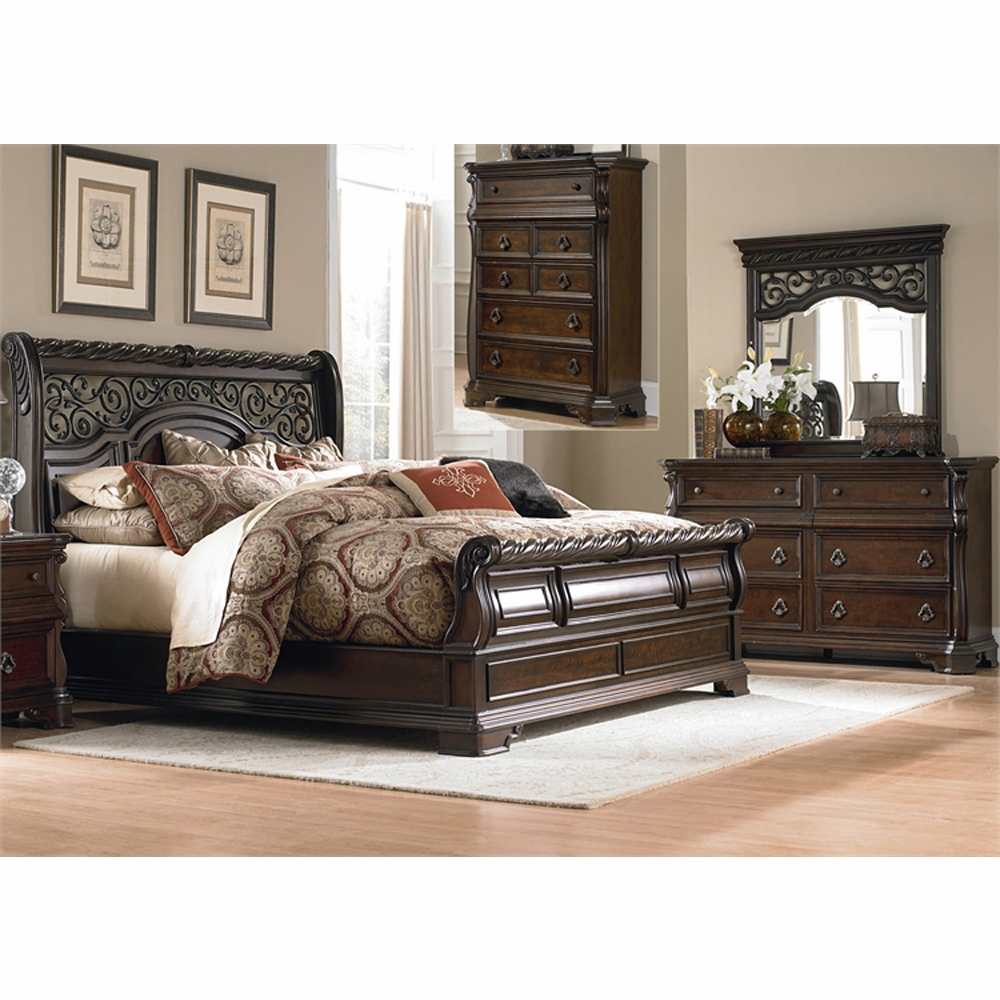 Liberty Furniture Arbor Place 4 Piece King Sleigh Bed