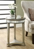 """Monarch Specialties - Mirrored 20""""Dia Accent Table - I 3705"""