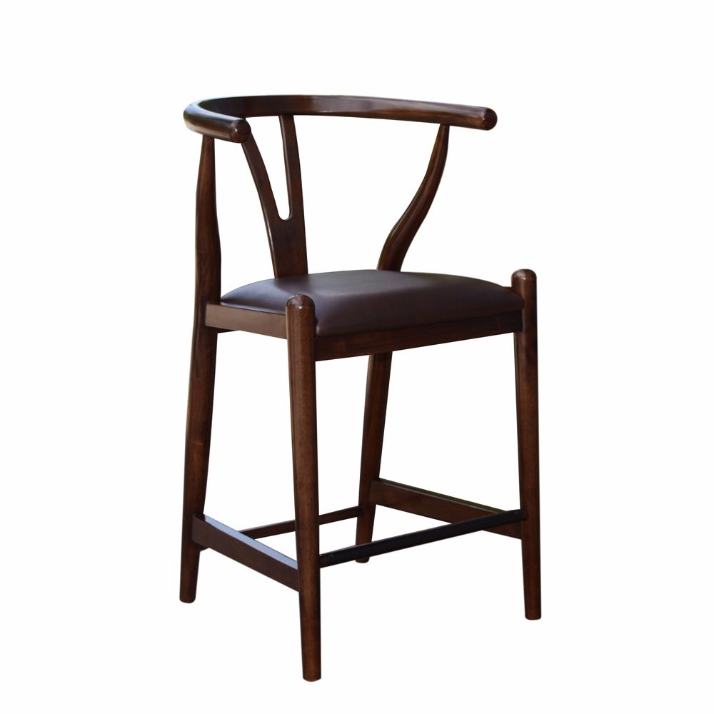 Boraam 24 Quot Wishbone Counter Stool In Cappuccino 52024