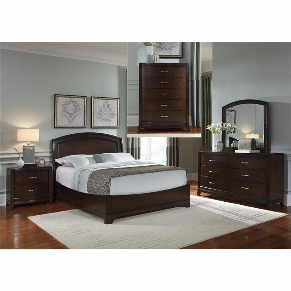 Liberty Furniture Avalon 5 Piece Queen Platform Bed Dresser Mirror Chest Night Stand Set