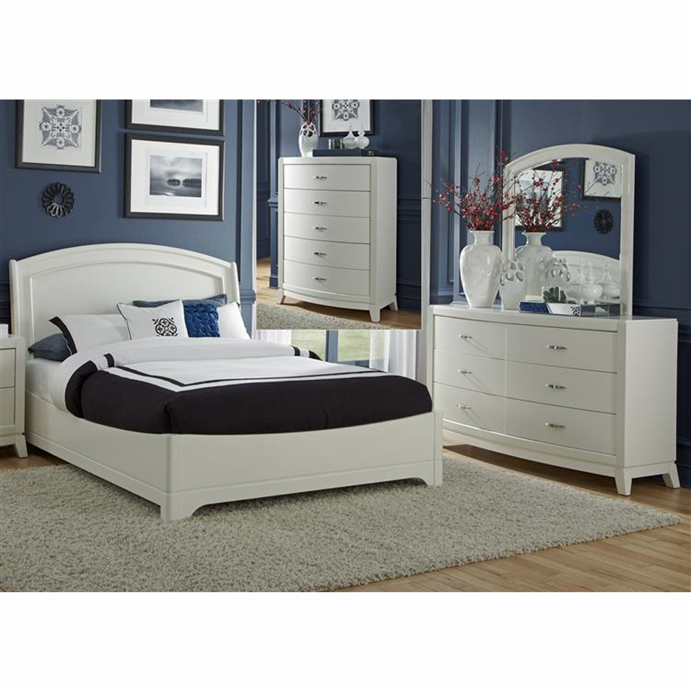 Liberty Furniture Avalon Ii 4 Piece Queen Platform Bed Dresser Mirror Chest Set 205 Br