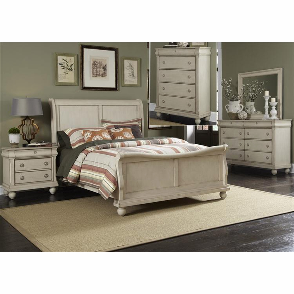 Liberty Furniture Rustic Traditions Ii 5 Piece Queen Sleigh Bed Dresser Mirror Chest