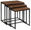 Coast to Coast Imports - Nested Tables In Blaisdell Rustic Black And Brown - 39677