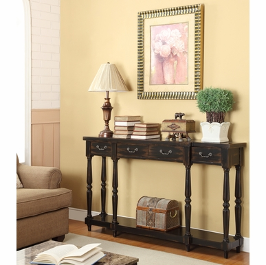 Coast to Coast Imports - Four Drawer Console Table In Apperson Black Rub Through - 50686