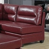 Monarch Specialties - Red Bonded Leather Armless Chair - I 8301RD