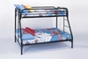 Monarch Specialties - Bunk Bed Twin Full Size Black Metal - I-2231K