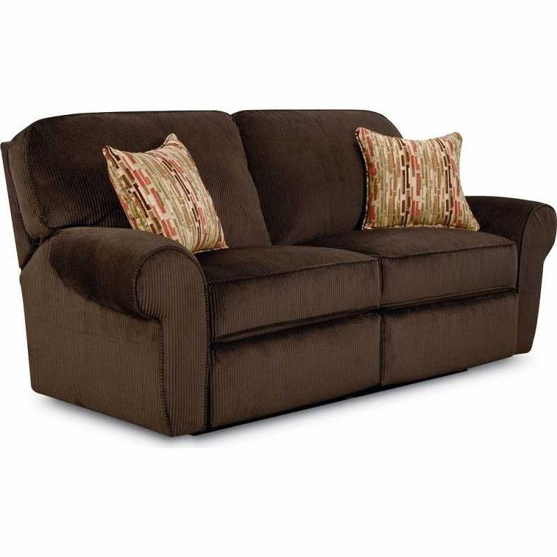 Lane   Megan Double Reclining Sofa In Viva Chocolate Finish   343 39 4925 21