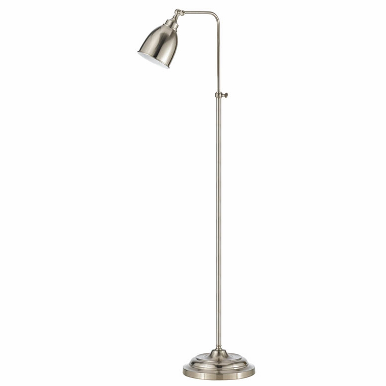 Cal Lighting Brushed Steel Pharmacy Floor Lamp With Adjule Pole Bo 2032fl Bs