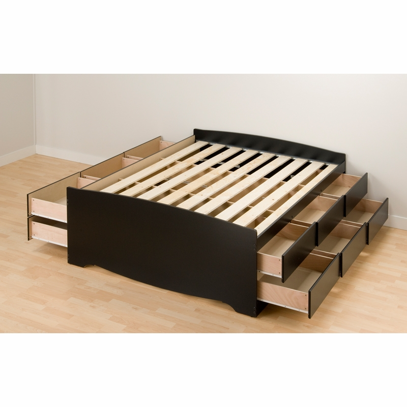 tall bed drawers drawer clean storage two captains and has the platform an lines elegant bookcase with queen spacious contemporary headboard