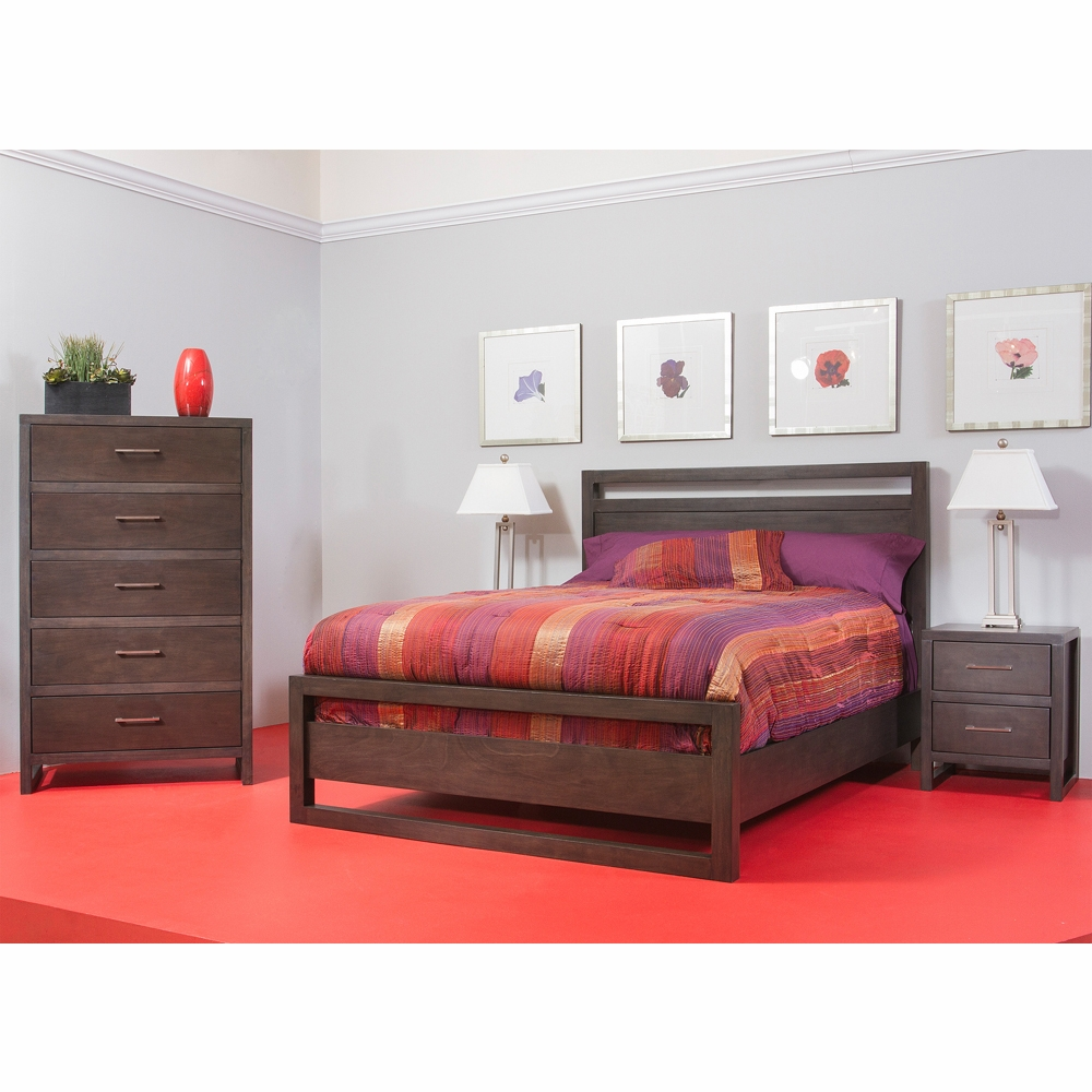 Tribeca 4 Piece Queen Panel Bedroom Set In Graphite