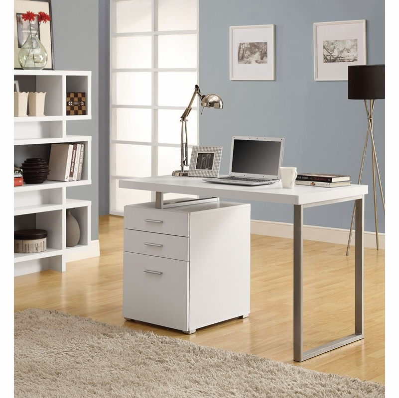 Monarch Specialties White Hollow Core Left Or Right Facing 48 L Desk I 7027