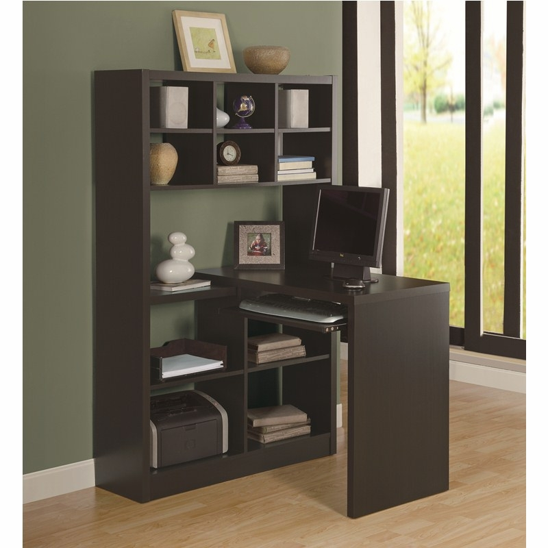 Monarch Specialties Cappuccino Hollow Core Left Or Right Side Corner Desk I 7021