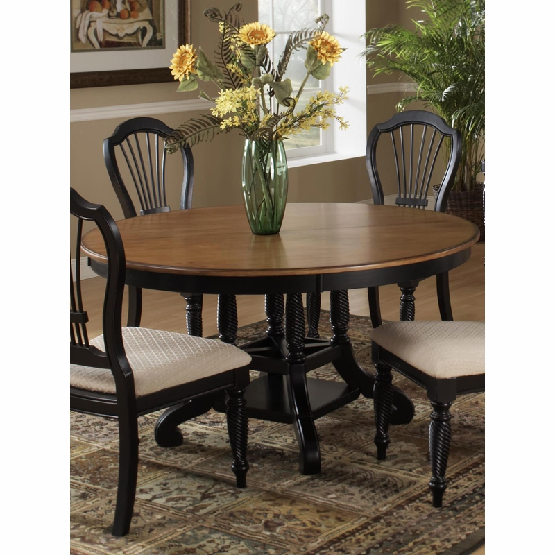 Hillsdale   Wilshire Round/Oval Dining Table In Rubbed Black   4509DTBRND