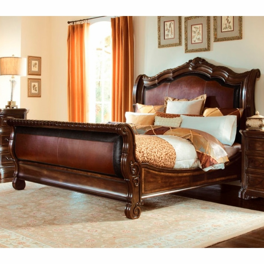 art furniture valencia california king upholstered sleigh bed 209147 2304. Black Bedroom Furniture Sets. Home Design Ideas