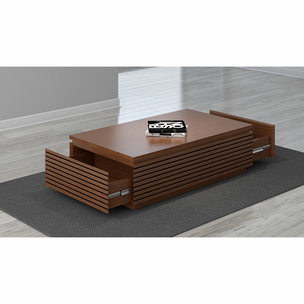 Furnitech 48quot contemporary coffee table in a light for Light cherry coffee table