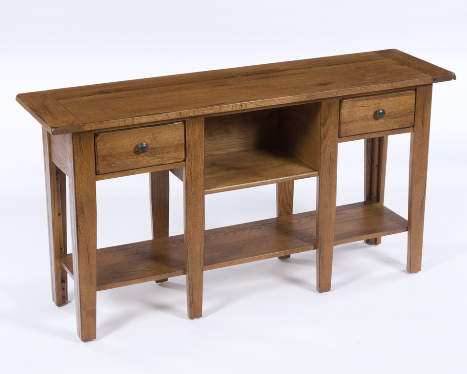 Broyhill Attic Heirlooms Sofa Table In Natural Oak
