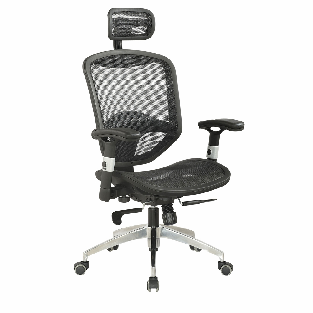 Chintaly Mesh Seat Back W Headrest Multi Adjule Pneumatic Gas Lift Office Chair 4025 Cch