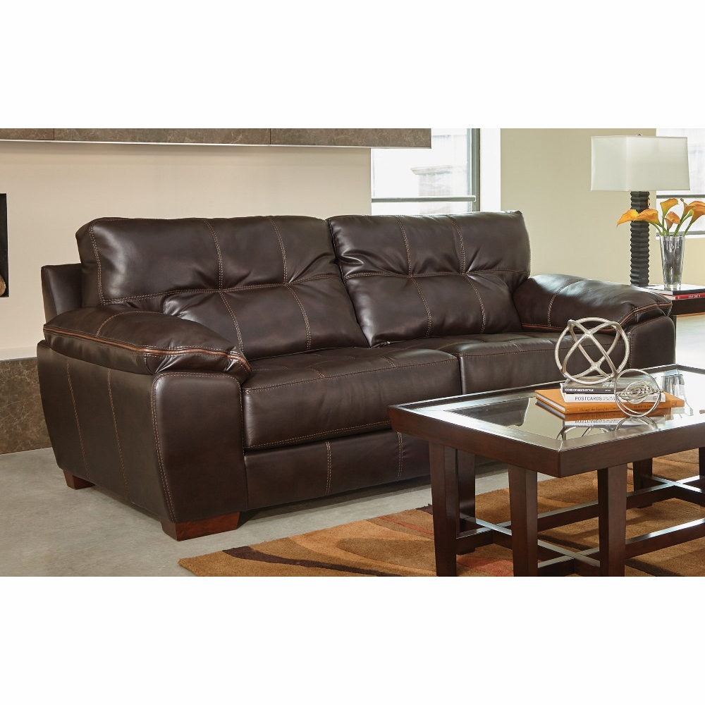 Jackson furniture hudson chocolate sofa 4396 03 for Sofa hudson