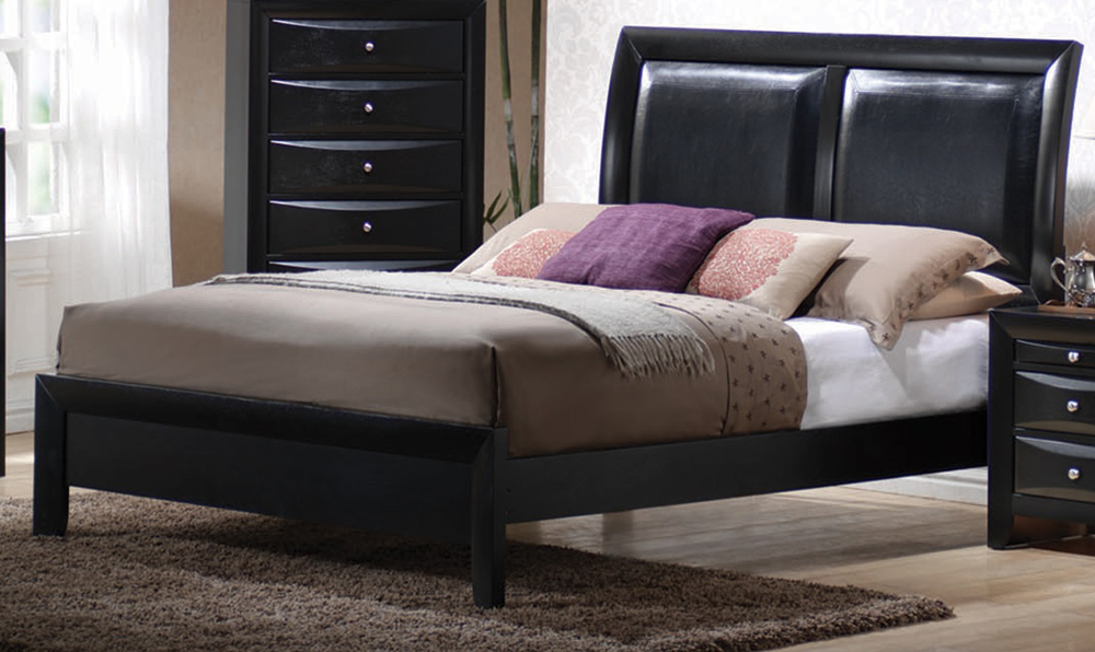 Coaster Furniture Briana Eastern King Bed In Black Finish...