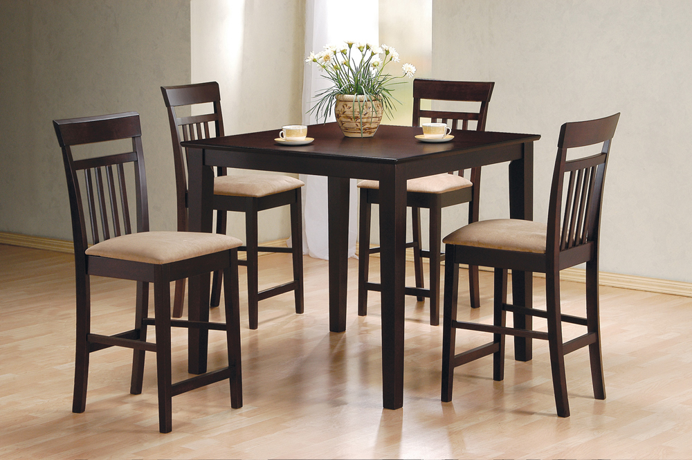 Coaster Furniture Counter Height Table/chairs 5 Pc Set In...