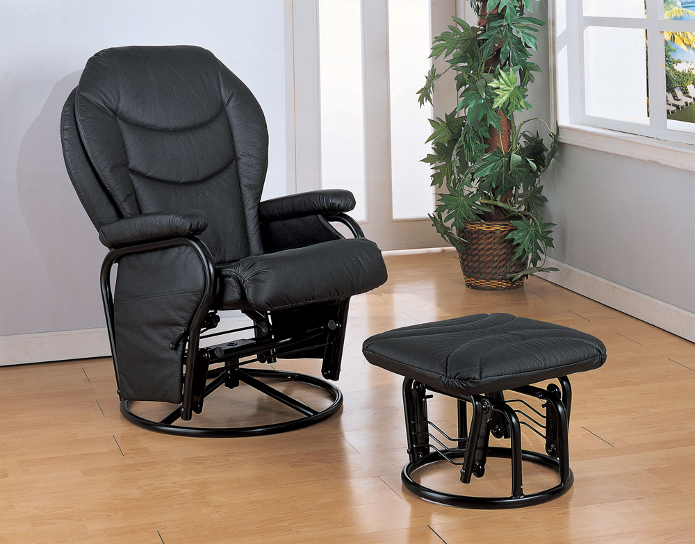 Coaster Furniture Glider And Ottoman (black) - 2946