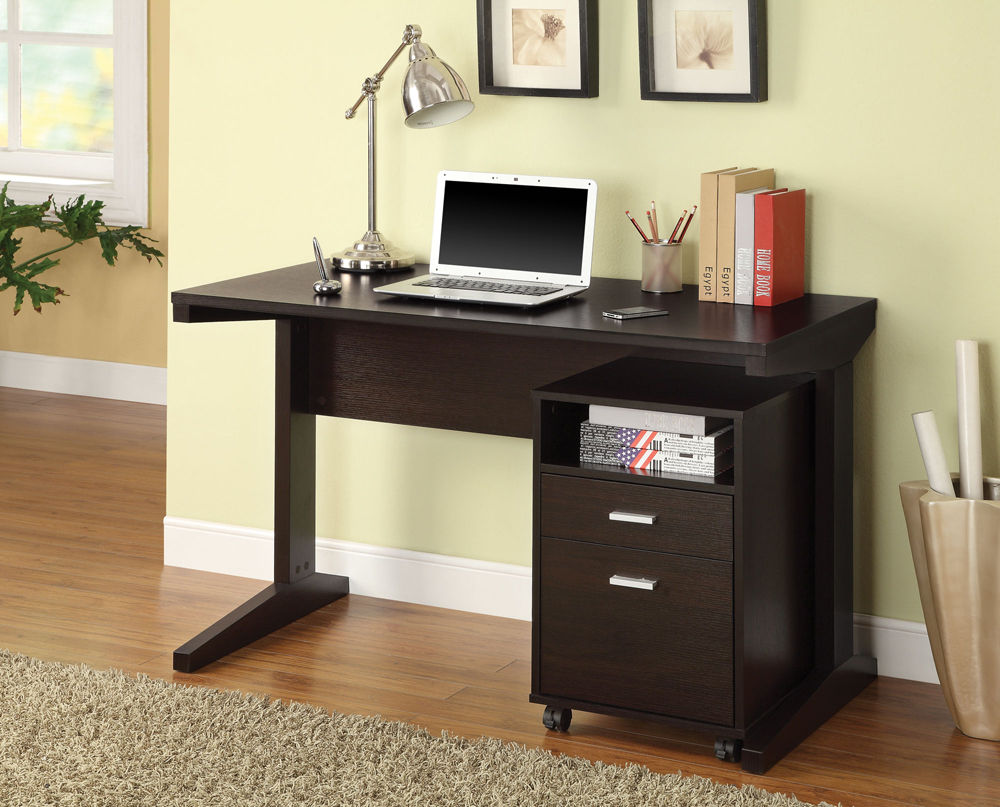 Coaster Furniture Office Desk And File Cabinet In Cappucc...